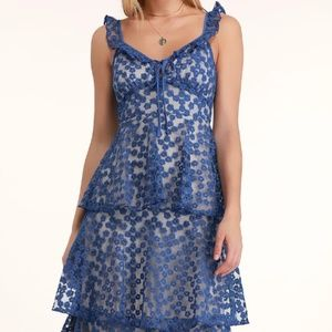 Lulu's Embroidered Floral Mini Dress Size S NWT